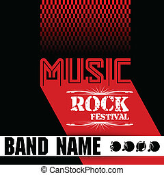 Music rock festival design template