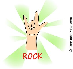 music rock on background, illustration vector format