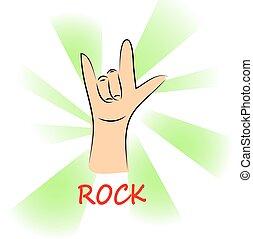 music rock on background, illustration vector format