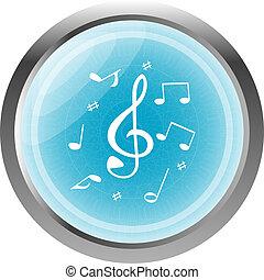 music round glossy web icon on white background
