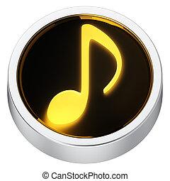 Music round icon