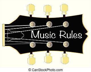 Music Rules Guitar Headstock