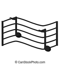 Music Scale Illustration - Illustration of a music scale on...