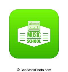 Music school icon green