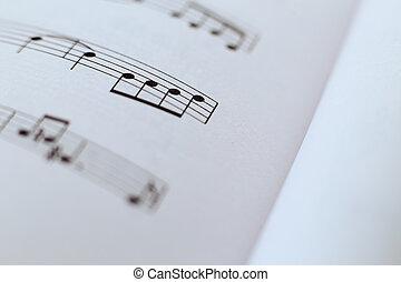 Music Sheet Closeup