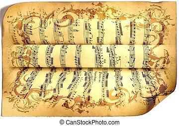 Music, sheet music, background