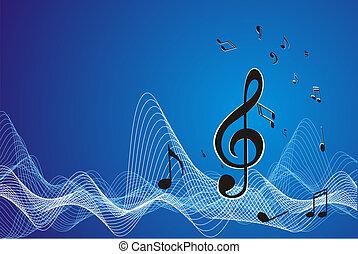 Music sheet (vector) wave