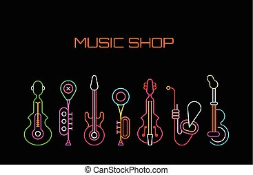 Music Shop neon sign