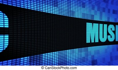 Music Side Text Scrolling LED Wall Pannel Display Sign Board