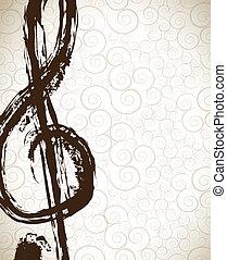 Music signal ove vintage background vector illustration