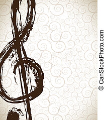Music signal ove vintage background vector illustration