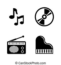 Music. Simple Related Vector Icons