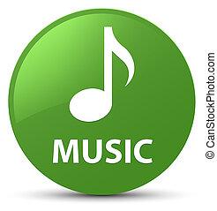 Music soft green round button