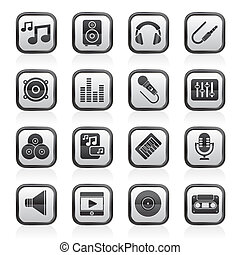 sound and audio icons