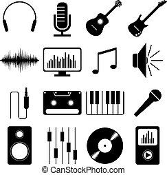 Music/ sound pictograms/ icons