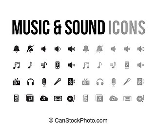 Music & sound vector icon for app, mobile website responsive