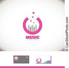 Music sound volume bar circle logo