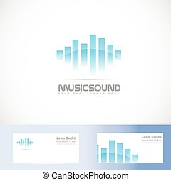 Music sound volume logo - Vector logo template of music...