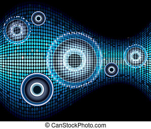 Music sound wave abstract