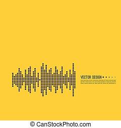Music sound wave.