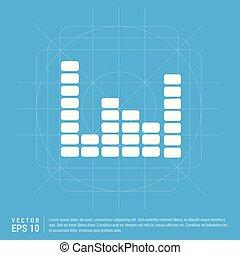 Music sound wave icon