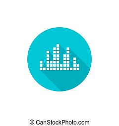 Music sound wave. Vector icon. Audio technology, musical...