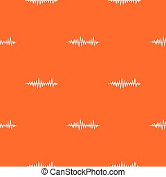 Music sound waves pattern seamless