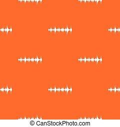 Music sound waves pattern seamless