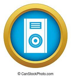 Music speaker icon blue isolated