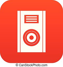 Music speaker icon digital red
