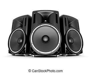 music speaker isolated on white background