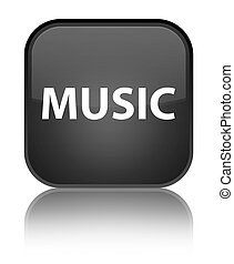 Music special black square button