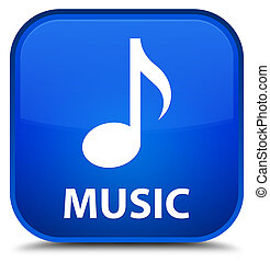 Music special blue square button