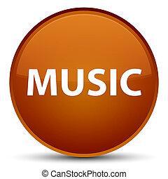 Music special brown round button