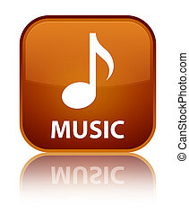 Music special brown square button
