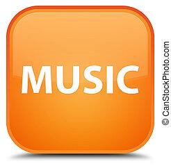 Music special orange square button