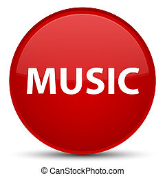 Music special red round button