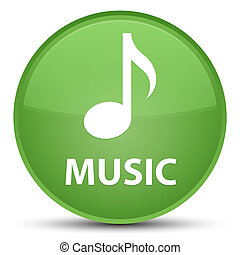 Music special soft green round button