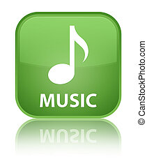 Music special soft green square button