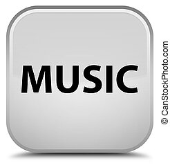 Music special white square button