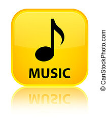 Music special yellow square button