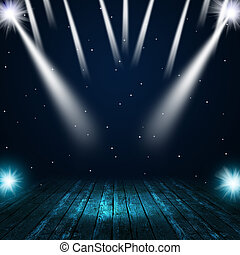 Music Stage Spotlights - music concert background with...