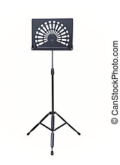 Empty music stand isolated on white background