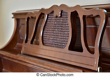 Music stand of the piano