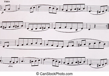 Music - Composition of music notes written on paper