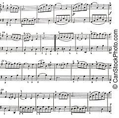music - sheet music