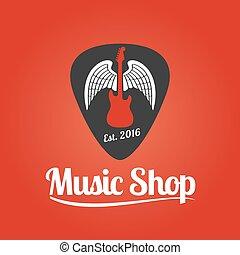 Music store vector logo