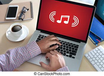Music Streaming Media enjoying the music Entertainment Download