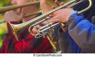 Music street jazz art - Trumpet player in the street....