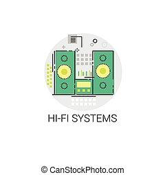 Music Studio Audio Hi Fi System Icon